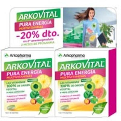 ARKOVITAL PURA ENERGIA PACK 30C X2