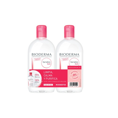 Bioderma sensibio h2o pack 2 x 500 ml