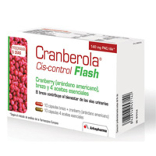 CRANBEROLA CISCONTROL FLASH ARANDANO AMER 20 CAP