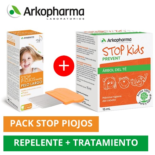 Pack Stop piojos pack pelo largo + STOP kids aceite de arbol de te 15ml