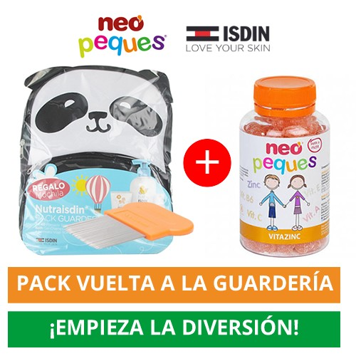 Pack nutraisdin mochila guarderia +  Neo Peques Vitazinc 30 Caramelos Masticables