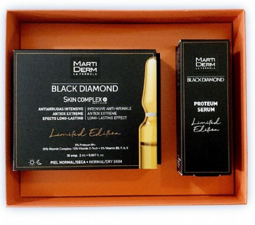 Martiderm cofre black diamond 30 ampollas+ serum 15ml de regalo