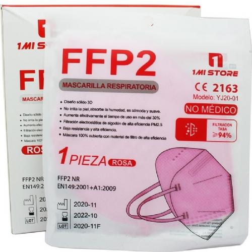 Mascarilla ffps rosa clara