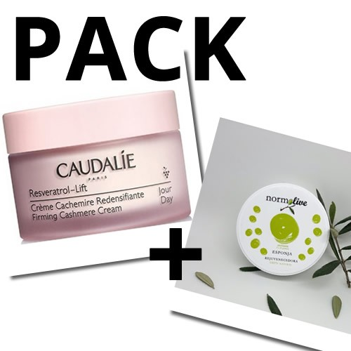 Caudalie resveratrol lift crema redensificante + Normolive esponja mascarilla rejuvenecedora