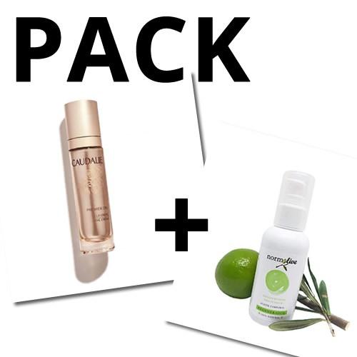 PACK Caudalie Premier Cru La Crema 50 ml + Normolive aceite corporal 100ml