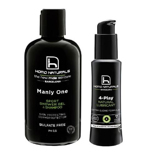 Homo naturals pack gel ducha+lubricante