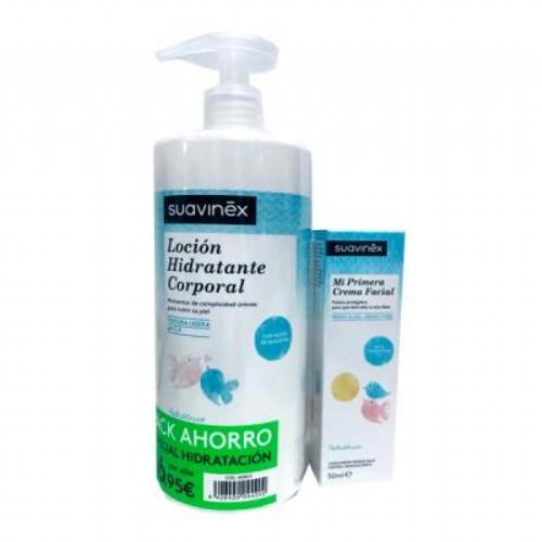 Suavinex pack loción hidratante 750 ml + crema facial 50 ml