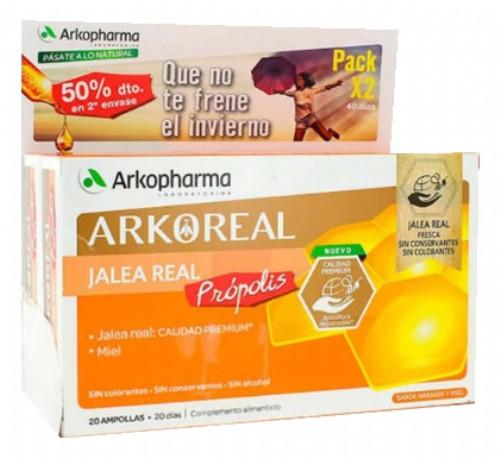 JALEA REAL PROPOLIS ARKOREAL 1000MG ARKOPHARMA PACK 2X20 AMPOLLAS DE 15ML