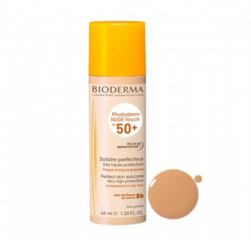 BIODERMA PHOTODERM NUDE SPF 50+ COLOR DORADO 40 ML