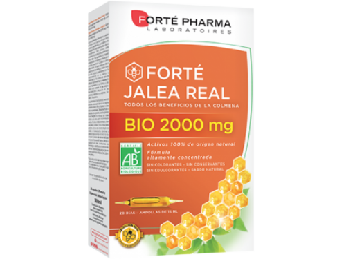 Jalea Real 2000 mg 15 mg 20 amp. Pack De 2 u.
