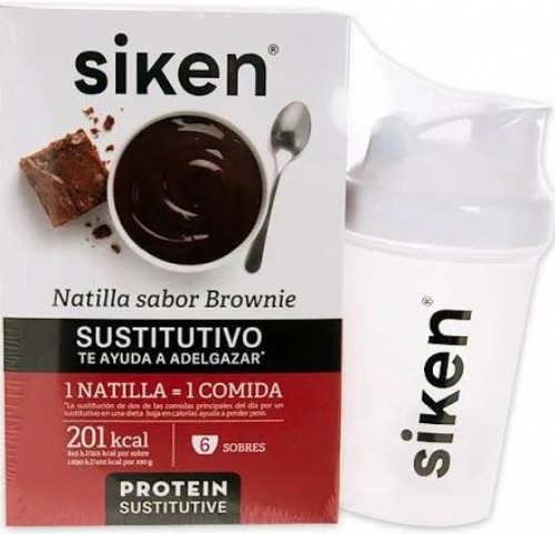 Siken natilla brownie 6 sobres + shaker
