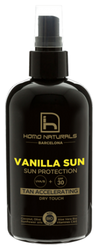 Homo naturals - vanilla sun 240ml 30spf
