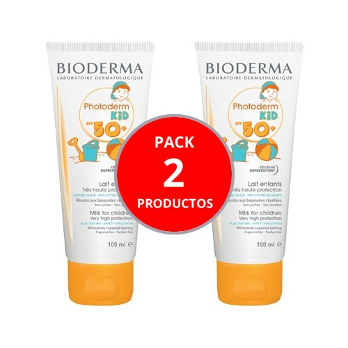 PACK DUPLO Photoderm kid spf 50+ leche de niños - bioderma (100 ml)
