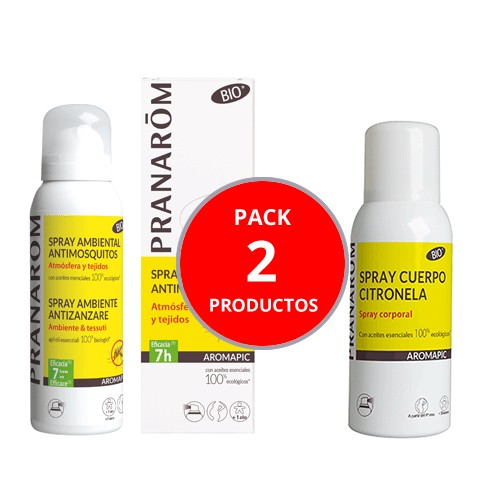 PACK PRANAROM SPRAY CITRONELLA  + AROMAPIC  SPRAY ATMOSFERA TEJIDOS
