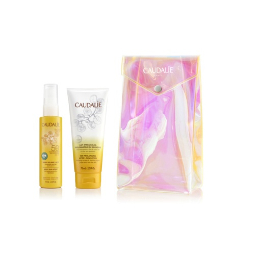 Caudalie pack spray 50+ y after sun