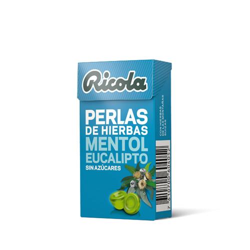 Ricola perlas s/a menthol eucal25g