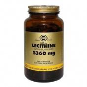 Solgar lecitina soja 1360mg 100per