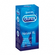 PROFILACTICO DUREX NATURAL XL 12 U