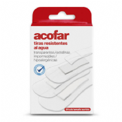 Acofar resistente al agua - aposito adhesivo (transp surtidas 20 u)