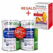 Vitanatur Collagen Antiox Plus DUPLO 2 x 360 g + VITANATUR VITAL-ENERGY 120cap REGALO