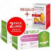 Pack 2 Uni Vitanatur colagen antiaging (10 viales) +Vitanatur vital energy 120 capsulas
