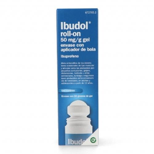IBUDOL ROLL-ON 50 MG/G GEL ENVASE CON APLICADOR DE BOLA , 1 tubo de 60 g