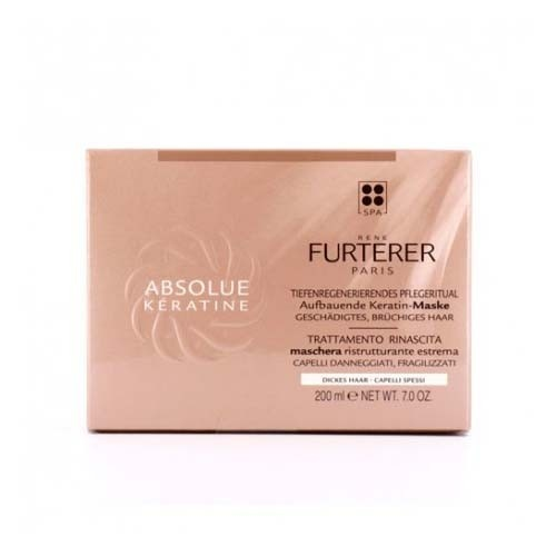 Absolue keratine mascarilla regeneracion extrema - rene furterer cabello grueso (1 envase 200 ml)