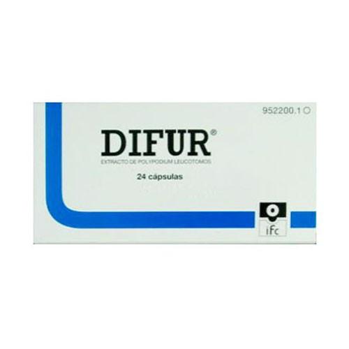 DIFUR 120 mg CAPSULAS DURAS , 24 cápsulas