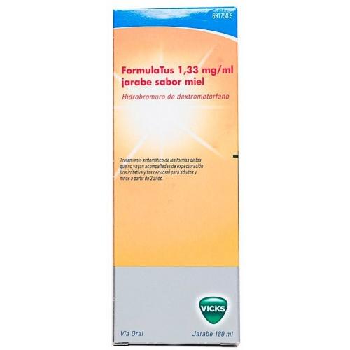 FORMULATUS 1,33 mg/ml JARABE SABOR MIEL, 1 frasco de 180 ml