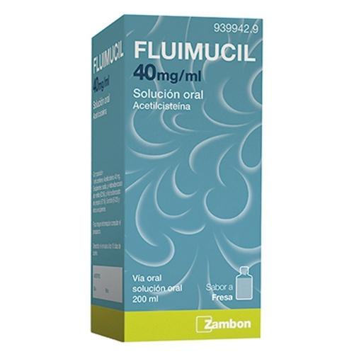 FLUIMUCIL 40mg/ml SOLUCION ORAL , 1 frasco de 200 ml