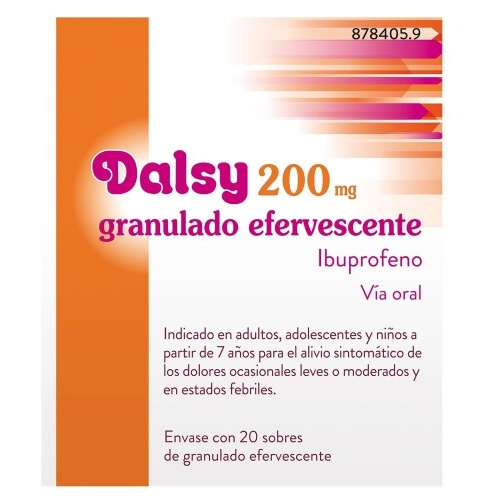 DALSY 200 mg GRANULADO EFERVESCENTE , 20 sobres