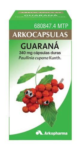 ARKOCAPSULAS GUARANA 340 mg CAPSULAS DURAS, 50 cápsulas