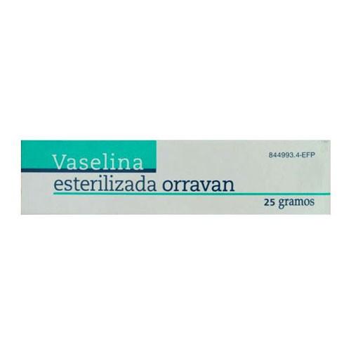 VASELINA ESTERILIZADA PURA ORRAVAN POMADA , 1 tubo de 25 g