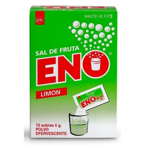SAL DE FRUTA ENO POLVO EFERVESCENTE SABOR LIMON , 10 sobres