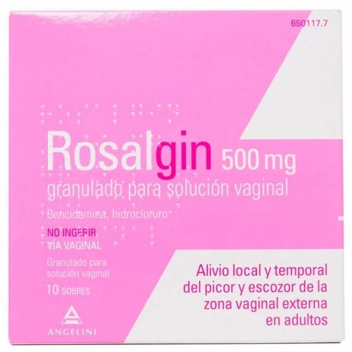 ROSALGIN 500 mg GRANULADO PARA SOLUCION VAGINAL, 10 sobres