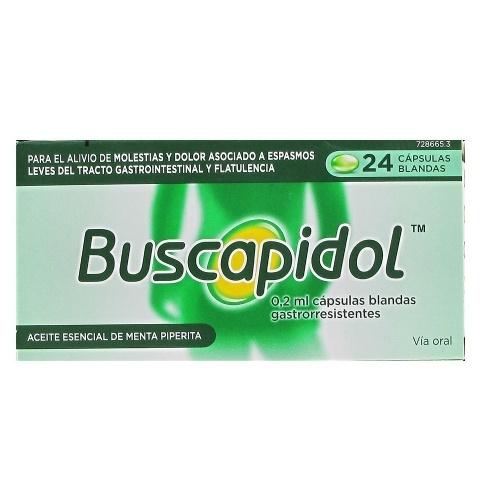 BUSCAPIDOL 0,2 ML CAPSULAS BLANDAS GASTRORRESISTENTES, 24 cápsulas