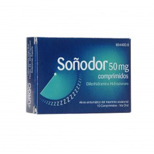 SOÑODOR DIFENHIDRAMINA 50 mg COMPRIMIDOS , 10 comprimidos