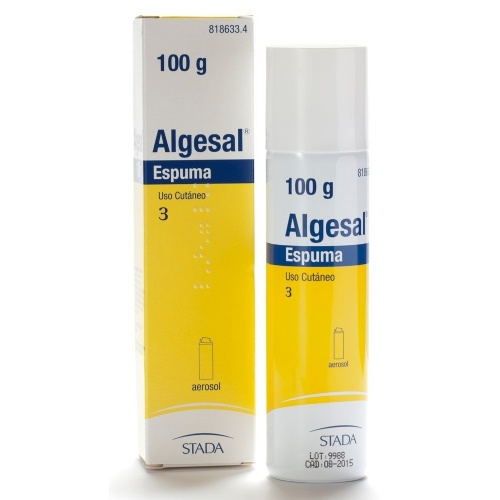 ALGESAL ESPUMA, 1 envase a presión de 100 g