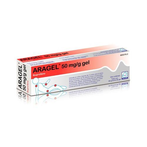 ARAGEL 50 mg/g GEL, 1 tubo de 60 g