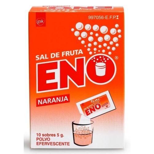 SAL DE FRUTA ENO POLVO EFERVESCENTE SABOR  NARANJA , 10 sobres