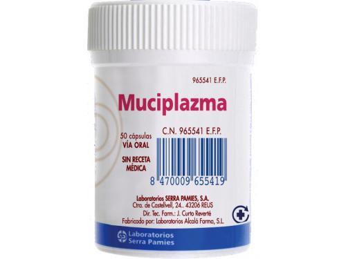 MUCIPLAZMA 500 mg CAPSULAS DURAS , 50 cápsulas