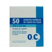Oc compresa esteril tejido sin tejer (7.5cm x 7.5 cm 25 sobres 2 comp 50 u)