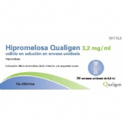HIPROMELOSA QUALIGEN 3,2 MG/ML COLIRIO EN SOLUCION EN ENVASE UNIDOSIS , 30 envases unidosis de 0,5 m