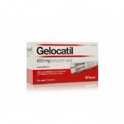 GELOCATIL 650 mg SOLUCION ORAL, 12 sobres